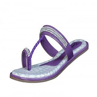 Exotique Stylish Purple Flat Slip - On