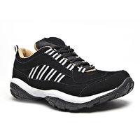 Foot N Style Men's Black Running Shoes