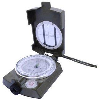 Grey Prismatic Magnetic Weslinger Metal Compass Military