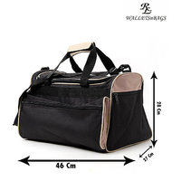 Bonanza Travel Bag  Black With Camel