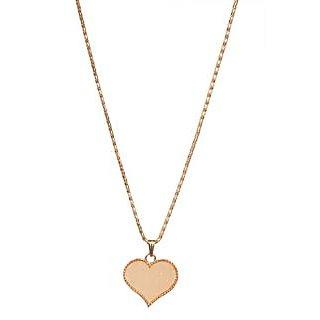 Urthn Stunning Cream Heart Shape Chain Pendent  -  1200828
