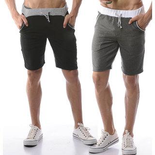 Demokrazy Men's Multicolor Shorts (Pack of 2)