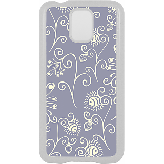 Ff (Spirally Yours) White Plastic Plain Lite Back Cover Case For Samsung Galaxy S5
