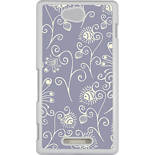 Ff (Spirally Yours) White Plastic Plain Lite Back Cover Case For Sony Xperia C