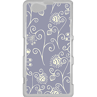 Ff (Spirally Yours) White Plastic Plain Lite Back Cover Case For Sony Xperia Z1 Mini