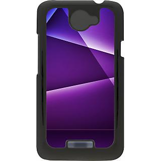 Ff (Star Wars) Black Plastic Plain Lite Back Cover Case For Htc One X