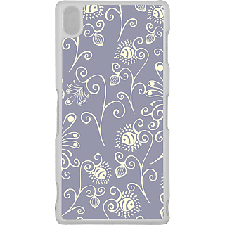 Ff (Spirally Yours) White Plastic Plain Lite Back Cover Case For Sony Xperia Z3