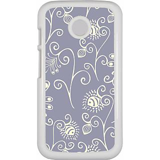 Ff (Spirally Yours) White Plastic Plain Lite Back Cover Case For Motorola E