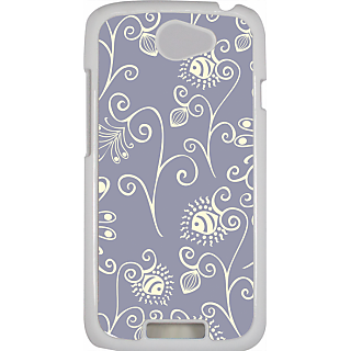 Ff (Spirally Yours) White Plastic Plain Lite Back Cover Case For Htc One S