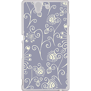 Ff (Spirally Yours) White Plastic Plain Lite Back Cover Case For Sony Xperia Z