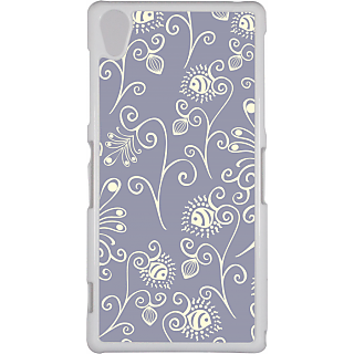 Ff (Spirally Yours) White Plastic Plain Lite Back Cover Case For Sony Xperia Z2