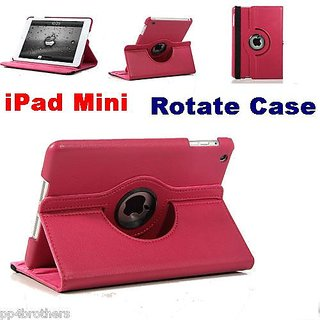iPad Mini Pink 360 Rotating Business Leather Flip Case Cover Pink
