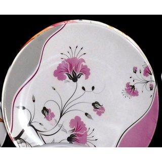 Set Of 50 Pcs Trendy White Melamine Full Dinner Plates Design 3