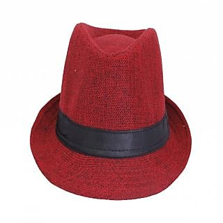 d7fe29917a4 FabSeasons Mens Fedora Hat HM16red