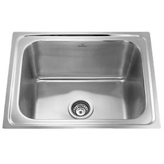 sink 24*18*8 single bowl  ,kitchen stainlessstell sink with sink waste coupling