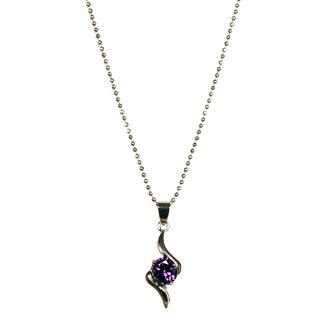 Urthn Exclusive Chain Pendant in Purple - 1200904