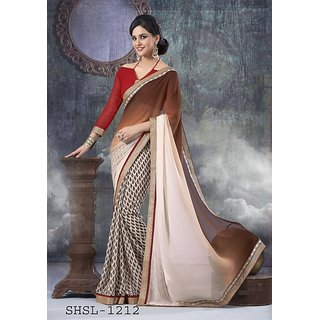 Beautiful designer multicolor printed saree