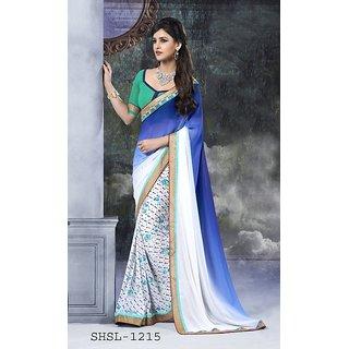 Beautiful designer multicolor printed saree