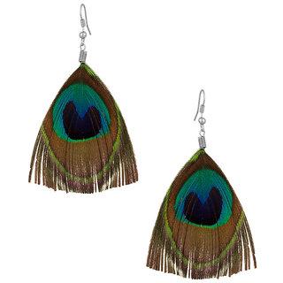 Verceys Peacock Feather Earrings