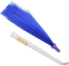 Assorted Colours Plastic Nylon Broom