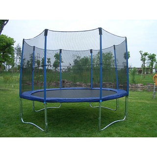 Play Ground Equipment Tramoline With Net 12Ft