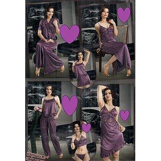 7658fee410c Sexy 8pc Night Wear Bra Panty Top Pajama Skirt Babydoll Nighty Over Coat  1435W