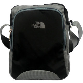 a770c7e424 The North Face Stylish Light weight Black   Grey Color Tab Sling Bag  NF00BLK29