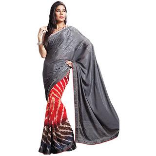 Womantra Women's Chiffon Multicolor  Saree