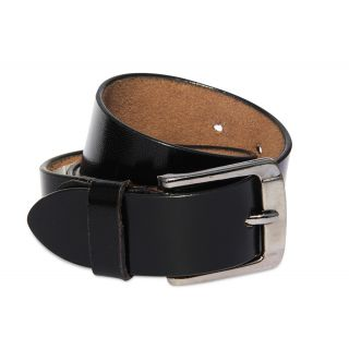 Calaso Formal Leather Classy Black Belt 35mm(Buff gold)