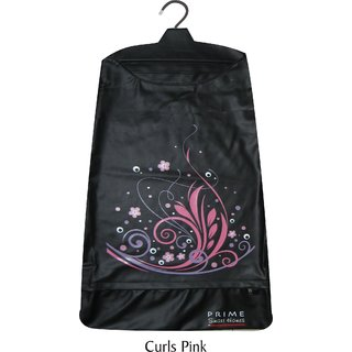 Strong Durable Multipurpose Designer Hanging Laundry bag Curls Black
