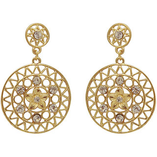 Urthn Round Design Earrings in Gold  -  1301134