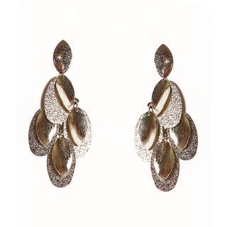 Urthn Pretty Silver Design Earring - 1301625