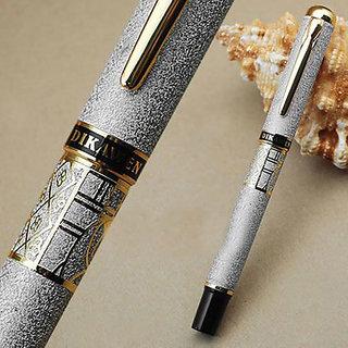 P-14 Dikawen 827 Silver Dream Gold Print Laser Engraved Ballpoint Pen
