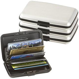 Unisex Aluminium Credit Card Security Wallet like Aluma Wallet - 3pc Silver