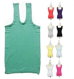 Pack of 6 Camisole Vest for Womens- Multi Colours -All Size