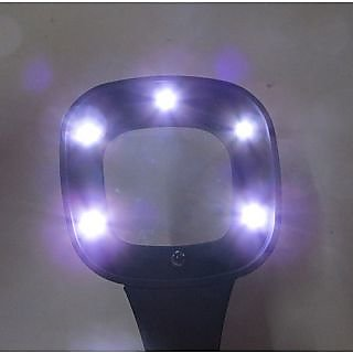 Magnifier With 6 Led Lights And Currency Note Checker