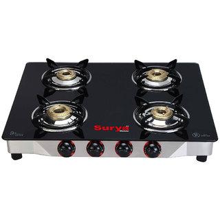 Surya aksh 4 burner gas cook top