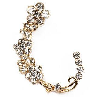 Urthn Floral Design Ear Cuff - 1302515