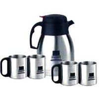 New Set Coffee Pot + Coffee Mugs Imported Set Gift Box
