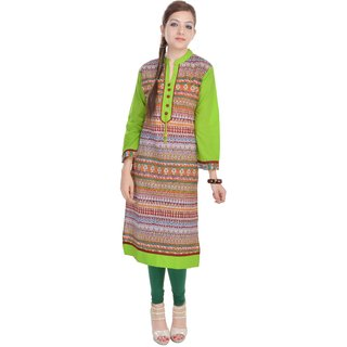 Vihaan Impex Designer Handmade Cotton Kurti Top Casual  Formal Wear