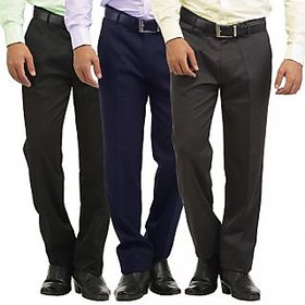 Inspire Slim Fit Formal Trousers ( Pack of 3 )