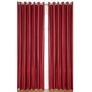 Gurukripa elegant design polyester door curtain  (set of 2)