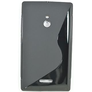 Totta S-line Silicone Back Case Cover For Nokia XL BLACK
