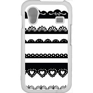 Ff (Lacy Affair) White Plastic Plain Lite Back Cover Case For Samsung Galaxy Ace