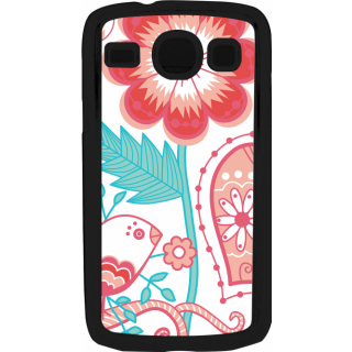 Ff (Love Bird) Black Plastic Plain Lite Back Cover Case For Samsung Galaxy Core