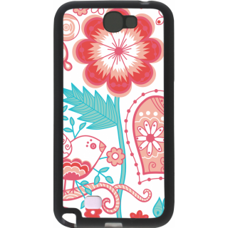 Ff (Love Bird) Black Plastic Plain Lite Back Cover Case For Samsung Galaxy Note 2