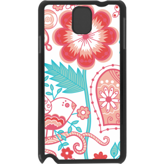 Ff (Love Bird) Black Plastic Plain Lite Back Cover Case For Samsung Galaxy Note 3