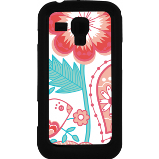 Ff (Love Bird) Black Plastic Plain Lite Back Cover Case For Samsung Galaxy S Duos