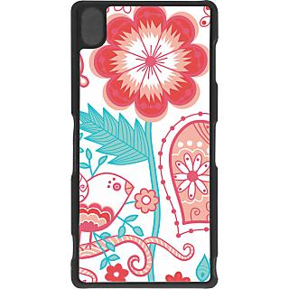 Ff (Love Bird) Black Plastic Plain Lite Back Cover Case For Sony Xperia Z3