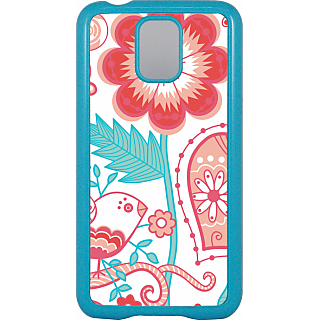 Ff (Love Bird) Blue Plastic Plain Lite Back Cover Case For Samsung Galaxy S5